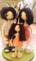 """Аворские куклы из фоамира """"Семья"""". Выполню на заказ. Рост папы 45 см, мамы - 42 см. Могу выполнить в других размерах и цветовых сочетаниях, по вашим фото и пожеланиям."""