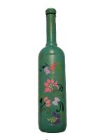 Декоративная бутылка ручной работы в технике росписи акриловыми красками. Бутылка может использоваться по назначению или стать оригинальным и уникальным украшением дома или офиса