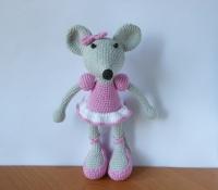 """Іграшка амігурумі """"Мишка балерина"""" Мила, граційна, позитивна мишка шукає новий дім. Можна використовувати як інтер"""