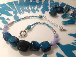 Колье из агата, бирюзы, говлита и аметиста.Приглашаем на нашу страничку, где Вы сможете увидеть полную коллекцию украшений  Https://m.vk.com/id327011753 или https://instagram.com/tandemjewelry_