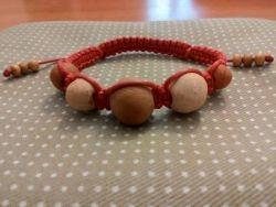 браслет шамбала, этно-, 16-18 см, вплетены бусины из керамики, авторская работа.