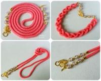 """Ларіат """"Рожеві мрії"""". Ларіат є універсальною прикрасою. Його носять як намисто і як пояс. Ларіат зв"""