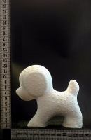 Пустотелая фигурка (копилка) отлитая из белой глины методом шликерного литья,обжиг в печи при температуре 1050 грд./С