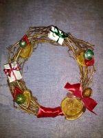 Замечательный подарок на Новый Год или Рождество.Сделан из виноградной лозы...