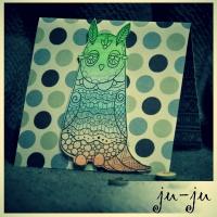 Необычная открытка с мотивирующей цитатой, орнаментом и совушками Больше открыток тут: https://vk.com/otkryitki_juju https://www.facebook.com/jujumagiccards Открытки Ju-Ju приносят счастье!