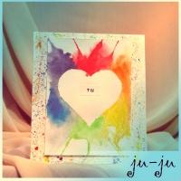 Открытка-картина с признанием в любви. Оригинальный романтический сюрприз ей или ему! Ручная роспись акварелью Больше открыток тут: https://vk.com/otkryitki_juju https://www.facebook.com/jujumagiccards Открытки Ju-Ju приносят счастье!