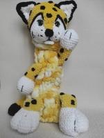 """Піжамниця - функціональна іграшка: сховок для піжами, улюблених речей, комфортер протягом сна, допоможе швидше заснути малюку в обіймах такої теплої іграшки. Піжамниця 50-55см. від 500 грн. Виготовлений з дитячої, гіпоалергенної пряжі. Оченята на безпечному кріпленні. Веселі леопардик та тигриня - герої з мультфільму """"Лео і Тіг"""" Розмір 65-70 см Ціна 600 грн"""