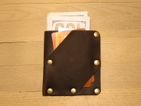 """Шкіряний гаманець Дощ""""BeCool""""#bc531"""