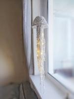 Медуза из хлопкового шнура в технике макраме. В комплекте гирлянда с мягким тёплым светом, в темноте прекрасно освещает комнату и смотрится просто волшебно? Уютная медуза ищет уютный дом для создания уюта уровня level cap?❤️