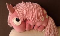"""Интерьерная подушка """"Пони"""" - авторская ручная работа. Из очень приятной на ощупь, бархатистой ткани.  Длина 45 см, 33 см"""